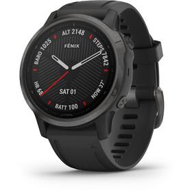 Garmin Fenix 6S Sapphire Multisport GPS Smartwatch, black/slate grey